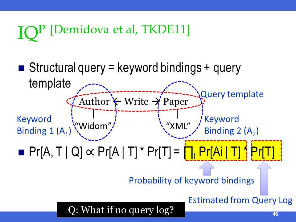 IQP [Demidova et al, TKDE11]